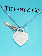 Tiffany & Co Return To Tiffany Sterling Silver Heart & Rubedo Key Necklace