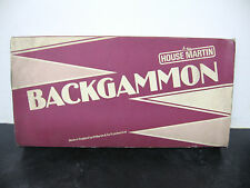 Vintage Backgammon Board Game House Martin 1970s