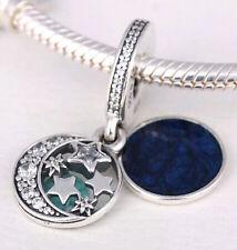 NIGHT SKY DANGLE 925 Sterling Silver Solid European Charm Bead for Bracelet