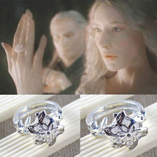 Lord of the Rings Galadriel Nenya White Gold & CZ Ring size 9