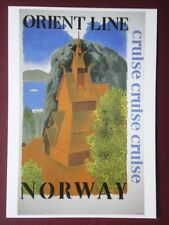 POSTCARD ADVERT POSTER FOR ORIENT CRUISES TO NORWAY (1)