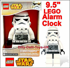"New LEGO Star Wars STORMTROOPER 9.5"" Digital Alarm Clock Minifigure Kids Bedroom"