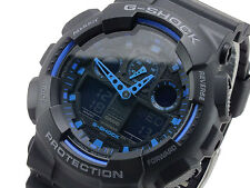 Casio G-Shock Mens Black Watch GA100-1A2 Warranty