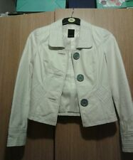 Vero moda while  leather jacket size 10 rrp £90