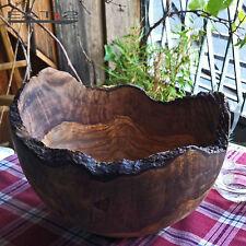 Olivenholz Schüssel Schale  Salatschale Dekoschale Naturrand rustic 28cm