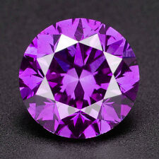 CERTIFIED .093 cts. Round Vivid Purple Color VS Loose Real/Natural Diamond 3E