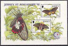 Jersey Nr. Block 11** (717-718**) Schmetterlinge