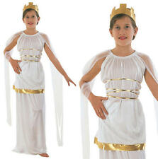Childrens Grecian Fancy Dress Costume Toga Girls Kids Greek Goddess Outfit L