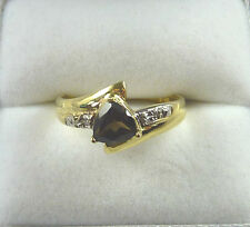 0.61ct Natural Topaz/Diamond Solid 9k/375 Yellow/White Gold Ring US (7.5) AU (O)