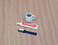 Toothpaste Set, Dolls House Miniature, Bathroom Accessory 1/12scale. Clean Teeth