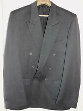 MENS 40s 50s VINTAGE 'STYLE' BURTONS grey DOUBLE BREASTED SUIT JACKET 38L long