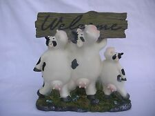 COUNTRY COW WELCOME GARDEN OR HOME ORNAMENT SCULPTURE