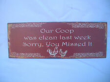 OUR COOP COUNTRY CHOOK METAL TIN SIGN PLAQUE