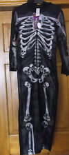 HALLOWEEN SKELETON ONESIE FANCY DRESS COSTUME AGE 7/8 YRS