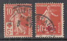 FRANCE^^^^^1920' s  x2   RED  CROSS  used   @ ea 2248fr8