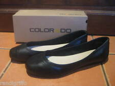 BRAND NEW! COLORADO slip on black leather ballet flat casual work shoes SZ 9