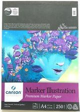 Canson Marker Illustration Pad 250gsm A4, 20 Sheets - Premium Marker Paper