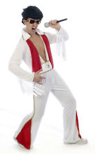 Extra Large XL Mens Rockstar Elvis Presley Jumpsuit Fancy Dress Costume U10 019