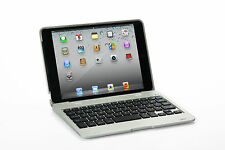 Clam Shell For iPad 2/3/4 Notebook Wireless Bluetooth Keyboard Silver Case