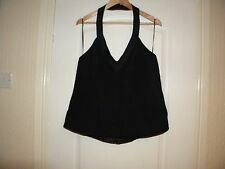 LADIES NEXT BLACK POLYESTER LINED HALTER NECK TOP, SIZE 20, NEW WITH TAGS