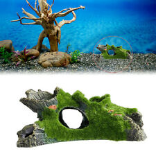 Resin Mountain View Moss Tree House Cave Aquarium Fish Tank Ornament Decoration