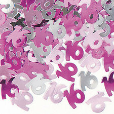 Girls Party Decoration PINK HAPPY 16th BIRTHDAY Foil Table Confetti 14g EuroWrap