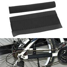 2x Fahrrad Ketten Strebenschutz Rahmenschutz Schutz Kettenschutz Schwarz 912C