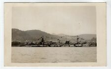DECORATED SHIP, V DAY 1946, FREETOWN: Sierra Leone postcard (C12656)