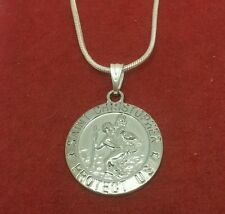 St Christopher Necklace Medal Pendant and Chain Travel Saint Charm religion