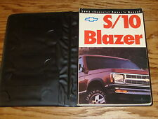 Original 1992 Chevrolet S-10 Blazer Owners Operators Manual 1st Edition w/Case