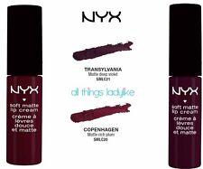 NYX Soft Matte Lip Cream x 2 SMLC20 COPENHAGEN & SMLC21 TRANSYLVANIA lipstick