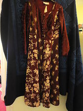 Long Burgundy Red Floral Dress by Kushi in Small / Size 10 - BNWT