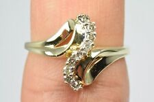 Women's .20 ct G/SI2 Journey Diamond Ring in 10k Solid Yellow Gold Very Good Cut