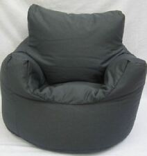Cotton Charcoal Light Black Grey Bean Bag Arm Chair Seat Beanbag *
