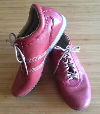 ROCKPORT ~ Ladies Red Leather Enclosed Lace Up Walking Casual Sneaker Shoes ~ 7
