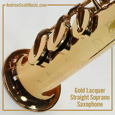 Straight Soprano Saxophone in Case - Gold Colored Keys - Masterpiece