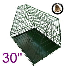 "Black 30"" Medium Sloping Foldable Car Dog Puppy Crate Hatchback Cage"