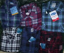 ONE SHIRT ONLY = *RANDOM* mens size XL extra large flannelette cotton flanel