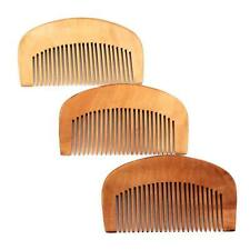 2X Natural peach wood no-static healthy close wide teeth massage wooden comb up