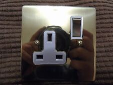 Forbes & Lomax Single Socket Polished Brass White Inserts New Free P&P