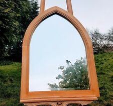 arch wall mirror beautiful oak gothic style large wall mirror