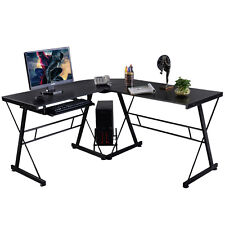 l shape computer desk pc wood laptop table workstation corner home office black buy shape home office