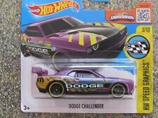 Hot Wheels 2016 #178/250 DODGE CHALLENGER DRIFT CAR purple Case E