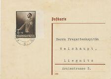 DT.REICH 1939 Tag der Arbeit Adolf Hitler am Rednerpult 6 + 19 Pf ABART