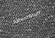Chain Mail Sheet 6 mm Round Riveted Flat Solid Sheet Only