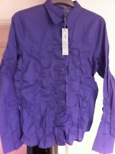 Per Una Blouse Size 14 Purple New Long Sleeves M&S