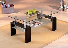 Couchtisch Glas Wohnzimmertisch Wohnzimmer Tisch Beistelltisch schwarz Glas NEU