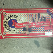 Retro games chess draughts and backgammon