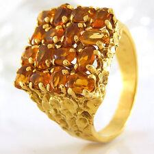Ring in 750/- Gelbgold mit 16 Citrinen