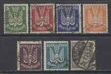 1924 Germany complete set Air Mail issues used, € 350.00